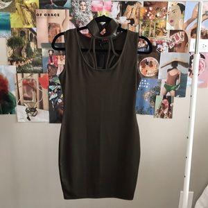 NEW Olive green Boohoo dress